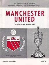 Victoria Manchester United 1967 Football Programme Australian Tour