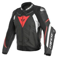New Dainese Super Speed3 Leather Jacket Men's EU50 Black/White/Red #1533809N3250