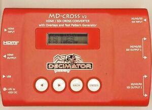 Decimator MD-Cross v2 HDMI/SDI Cross Converter Accessories Great condition B