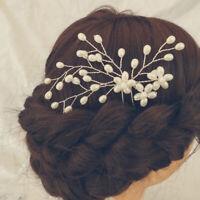 Women Girls Hair Pins Pearl Bridal Hairpins Vintage Wedding Party Fashion ZB