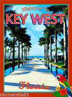 Florida Keys Key West Parrot Bird United States Travel Art Advertisement Poster