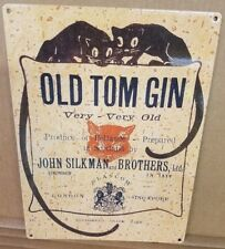 Old Tom Gin vintage label reproduction steel sign bar decor