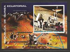 Space Apollo 15 Mission Landing - MNH Souvenir Sheet from Equatorial Guinea