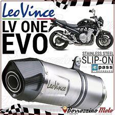 POT D'ECHAPPEMENT LEOVINCE LV ONE EVO INOX HOMOLOGUÉE E9 SUZUKI BANDIT 1250 2013
