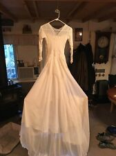 Vintage 40's Wedding Dress Gown Elegant For Petite Girl Small Waist