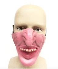 Latex Half Face Big Chin Mask Fancy Dress Stag Night Bruce Forsythe Novelty Fun