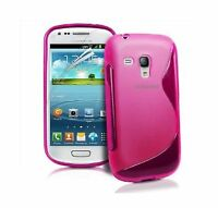 Pour Samsung Galaxy S3 Mini (GT-I8190) Housse Coque Gel Silicone SLine + 1 Film