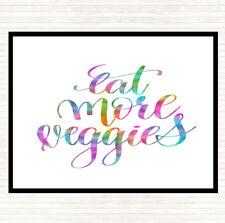 Comer más verduras Arco Iris cita Mouse Mat Pad