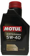 Aceite Motor Motul 8100 PERFORMANCE 5W40, 1 litro  100% sintetico