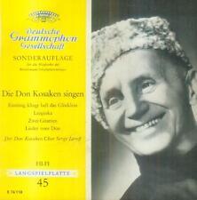 """7"""" Don Kosaken Chor Serge Jaroff/Eintönig Klingt Hell Das Glöcklein (EP)"""