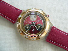 1995 Swatch Watch Aquachrono Red Sun SEK105