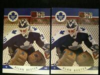 1990-91 Pro Set #275 Allan Bester Error & Corrected - Set of 2
