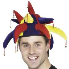 Mens Adult Jester Hat Fancy Dress Comedy Clown hat by Smiffys New