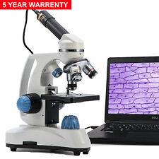 Us Swift 40x 1000x Student Compound Microscope Dual Light With 13mp Usb Camera