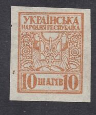 Ukraine 1918 - 10s Brown - SG1 - Mint (E44H)