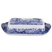 Portmeirion Spode Covered Butter Dish, Blue Italian (1401565)