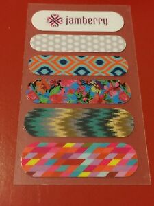 Jamberry 2013 Sample Happy Go Lucky Low Frequency Wildflowers Mojave Grey White
