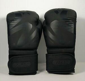 Rdx F-15 Boxing Muay Thai Gloves BGRF15MB 14 oz Ultimate Grip Noir Series Black