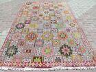 """Vintage Turkish Kilim Rugs, Embroidery Rug, Wool Kilim 73""""X118"""" Area Rug, Carpet"""