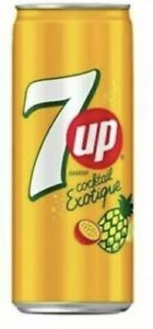 7 UP COCKTAIL EXOTIQUE FLAVOUR -330ml X 24. Same Day Dispatch Free p&p