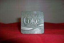 """BELT BUCKLE- """"ENJOY COKE Trade-mark""""-.-1 3/4 """" X  1 3/4 """"- ONE HOOK/ LOOP"""