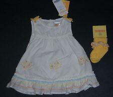 NWT Gymboree Prairie Ranch 0-3 Months Eyelet Peach Apricot Tree Dress & Socks