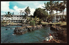 c1960 Nani Li'i Naniloa Hotel waterfront Hilo Bay Big Island Hawaii postcard