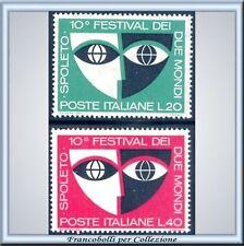1967 Repubblica Festival Due Mondi Spoleto n. 1049/1050