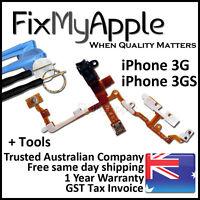 iPhone 3GS 3G OEM Power Headphone Jack Volume Mute Button Flex Cable Black Tools