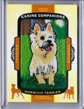 2018 Upper Deck Goodwin Champions Canine Companions Norwich Terrier Pd