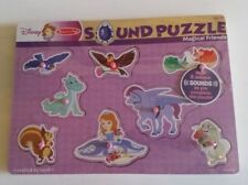 Disney Melissa And Doug Wooden Sound Puzzle Magical Friends New In Package