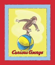 "CURIOUS GEORGE PANEL Quilt Top 100% cotton Fabric by the panel 35"" X 43"""
