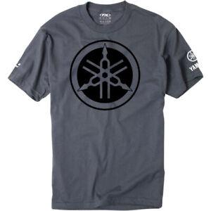 Factory Effex Yamaha Tuning Fork T-Shirt (Charcoal Gray) Choose Size