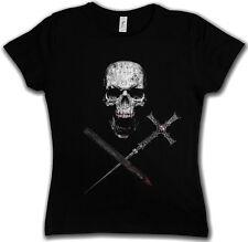 Vampire Skull T-Shirt Vampir True Bite Teeth Jaws Blood Bat Horror Cross