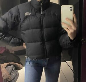 North Face Black Nupste Puffer Jacket