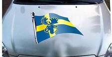Schweden Elch Kopf Pictogram 50 x 30 cm Aufkleber Motorhaube Auto Caravan SUV