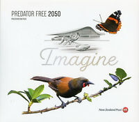 New Zealand NZ 2018 Predator Free 5v Set M/S Pres Pack Flowers Birds Stamps