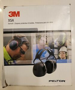 3M Peltor X5A Over-the-Head Earmuffs, Black, One Size Fits Most, 31dB NRR #X5A