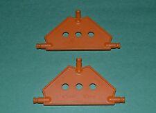 2 K'Nex medium orange triangular connector plates - (3 hole) combined shipping