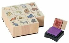 16 Stempel Tiere Wildtiere Holzstempel Holz