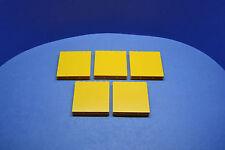 LEGO 5 x Säulenstein Wandstein 1x6x5 gelb | yellow wall brick 3754