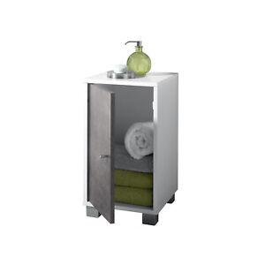 Seitenschrank Badschrank Badezimmer Badmöbel Beistellschrank  | Betonoptik