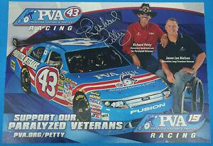 RICHARD PETTY #43 DODGE SIGNED FAN HERO CARD NASCAR 2010