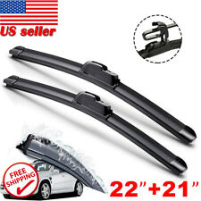 "NEW 22"" & 21"" Windshield Wiper Blades J-HOOK OEM QUALITY Bracketless All season"