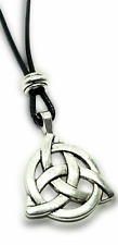 Triquetra Pendant Beaded Corded Necklace Protection from Spiritual Attack