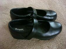 Propet Mary Jane Walker Comfort Shoes Black Women Sz 8 Wide Width Leather NICE