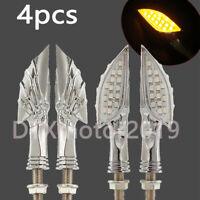 4x Skeleton Claw Turn Signal Lights for Yamaha Road Star Warrior Midnight 1600