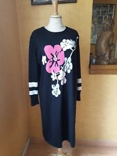 robe en maille laine & manches longues EUGEN KLEIN T.46 wool sleeved dress sz XL