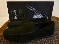 GEOX Monet Driver Mens 39 Black Suede Leather New In Box