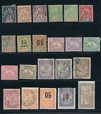 1896 - 1920 Madagascar (41) EARLY ISSUES AS SHOWN; CV 50+